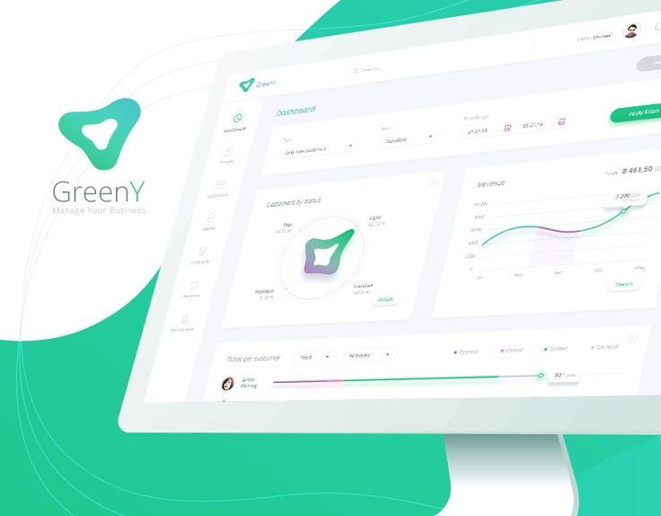 "Check out this @Behance project: ""GreenY - Manage your business -Dashboard design"" https://www.behance.net/gallery/55405355/GreenY-Manage-your-business-Dashboard-design"