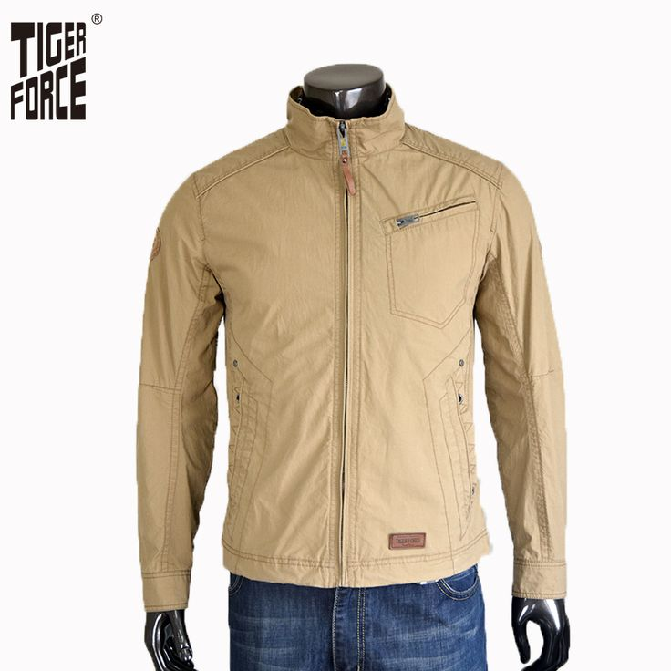 Find More Jackets Information about TIGER FORCE 2016 European Size Men Outerwear Jackets Solid Zipper Cotton Twill Fabric Casual Jacket Free Shipping 31353A,High Quality parka cotton,China coat wallet Suppliers, Cheap coat stand from TIGER FORCE on Aliexpress.com