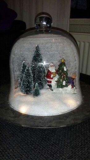 Kerstdorp in stolp