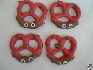 Chocolate Ladybug Pretzels Birthday Garden Party Favors