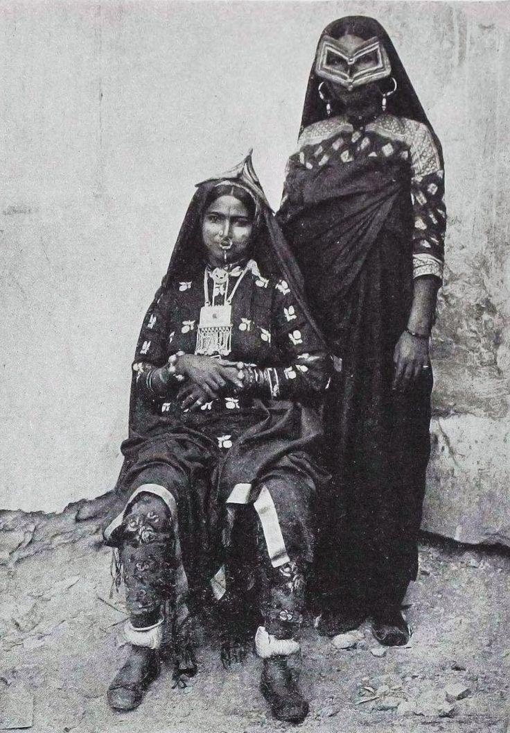 Oman | Postcard image of Beluchi women in Muscat. ca. 1901 | Photographer A.R. Fernandez #Oman