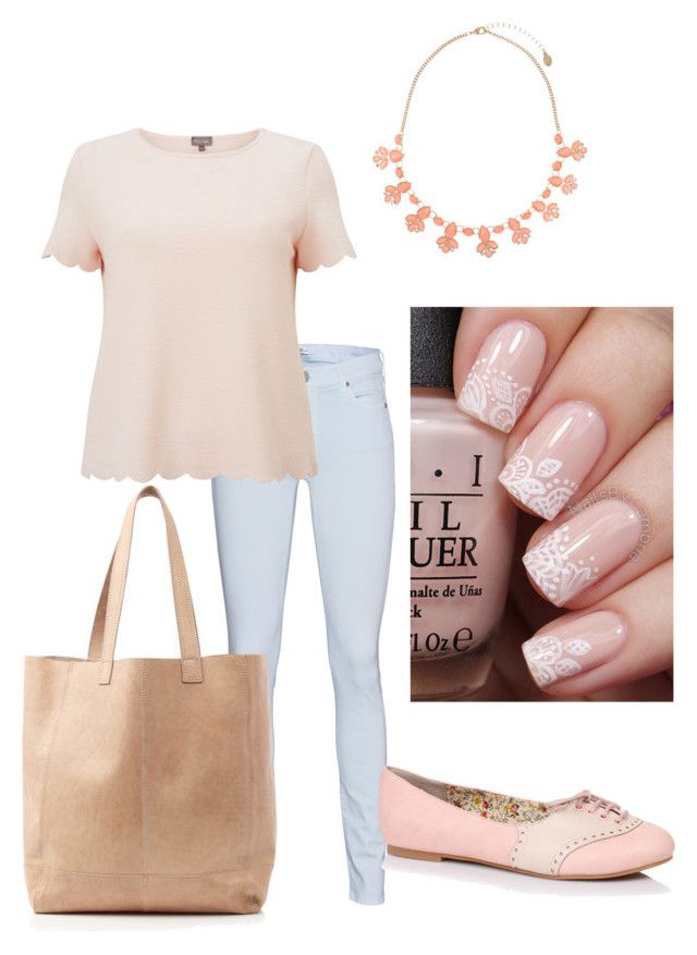 """Wednesday we wear pink"" by rainbowfra on Polyvore featuring 7 For All Mankind, Phase Eight, Accessorize and Oasis"