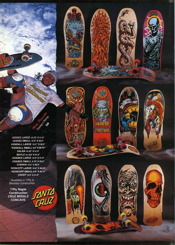 Classic skateboard graphics by jim phillips