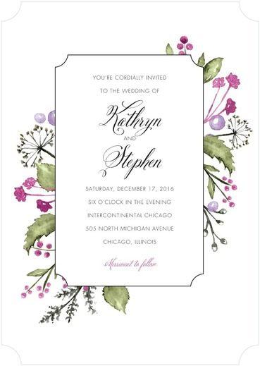 Verdant Bouquet - Signature White Wedding Invitations - Lady Jae - Rust - Orange : Front