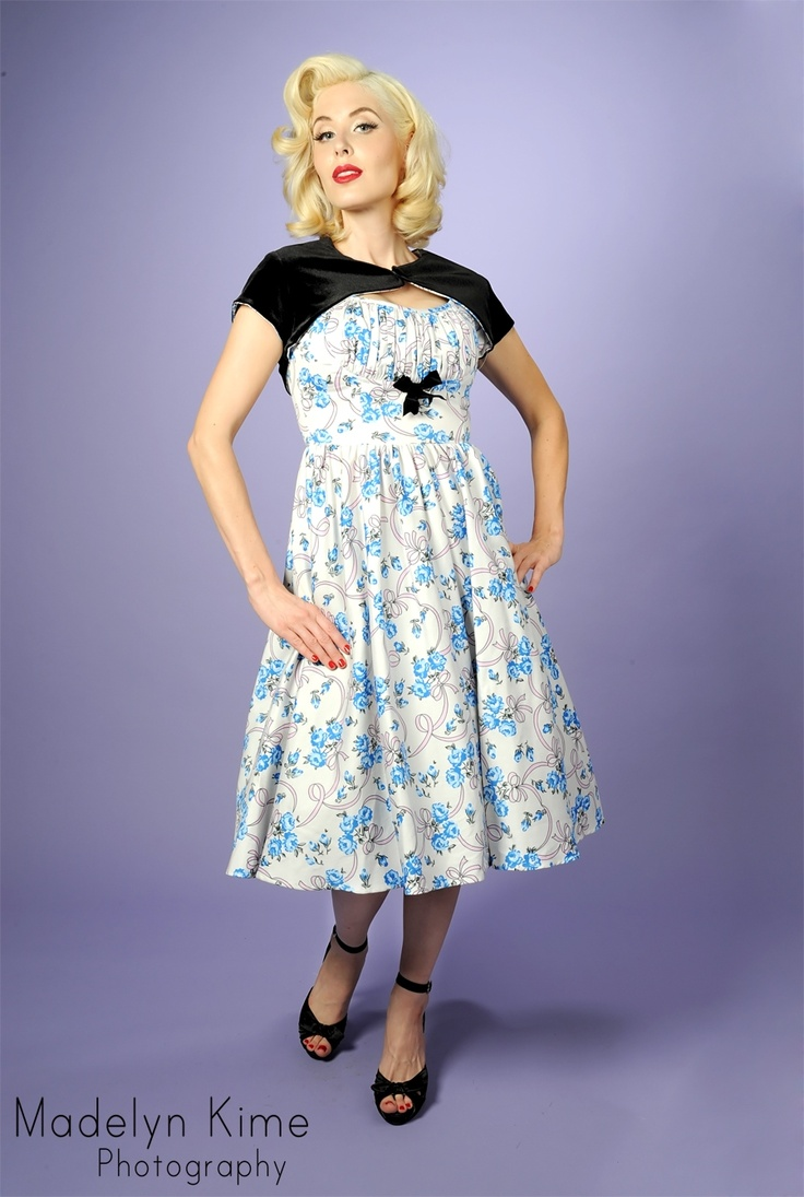 Evelyn Dress in Ribbon Rose PrintRockabilly Baby, Style, Bridesmaid Dresses, Evelyn Dresses, Rockabilly Evelyn, Ribbon Rose, Rose Prints, Ribbons Rose, Bows