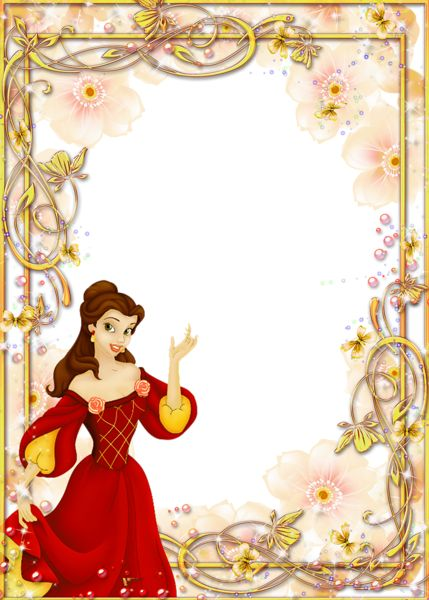 Princess Kids PNG Transparent Photo Frame
