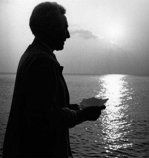 Portrait of Jean Cocteau by Lucien Clergue, 1959