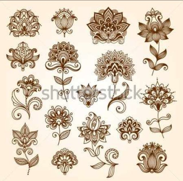 Henna flowers I would really like to try