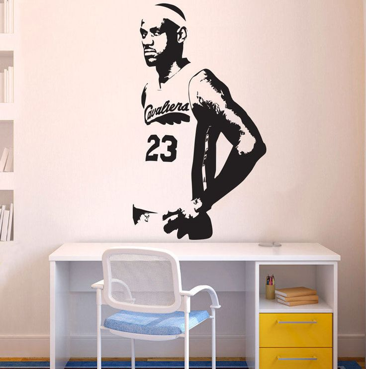 Basketball Star Cleveland Cavaliers Lebron James Basketball Wall Decal Art Mural Carved Wall Stickers ES-57