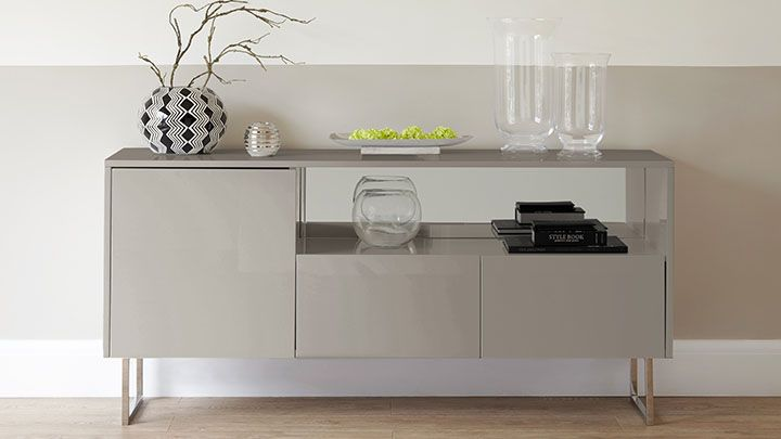 Contemporary Grey High Gloss Sideboard| UK Designer
