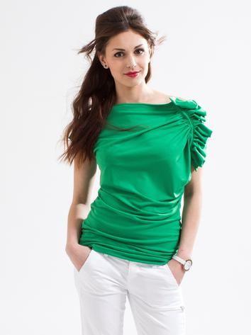 Green chic t-shirt. Rock Café Fashion, Prague
