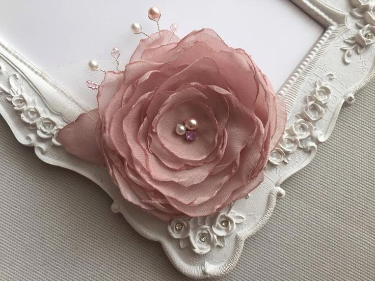 Bridal wedding hair accessories, flower headdress wedding dusty pink Rose, lace, crystals, rhinestones and pearls by FleursProvence on Etsy