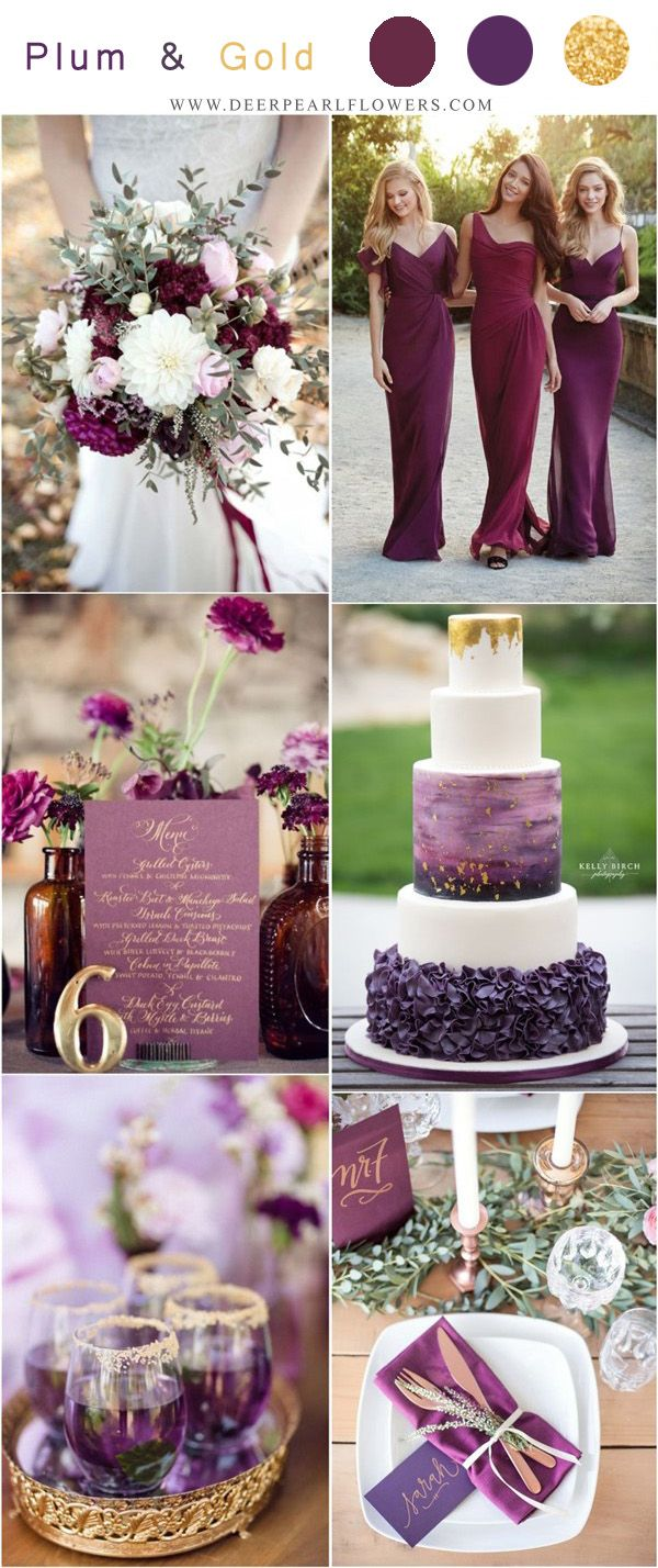 Top 5 Purple Wedding Color Combos For 2020 Gold Wedding Colors