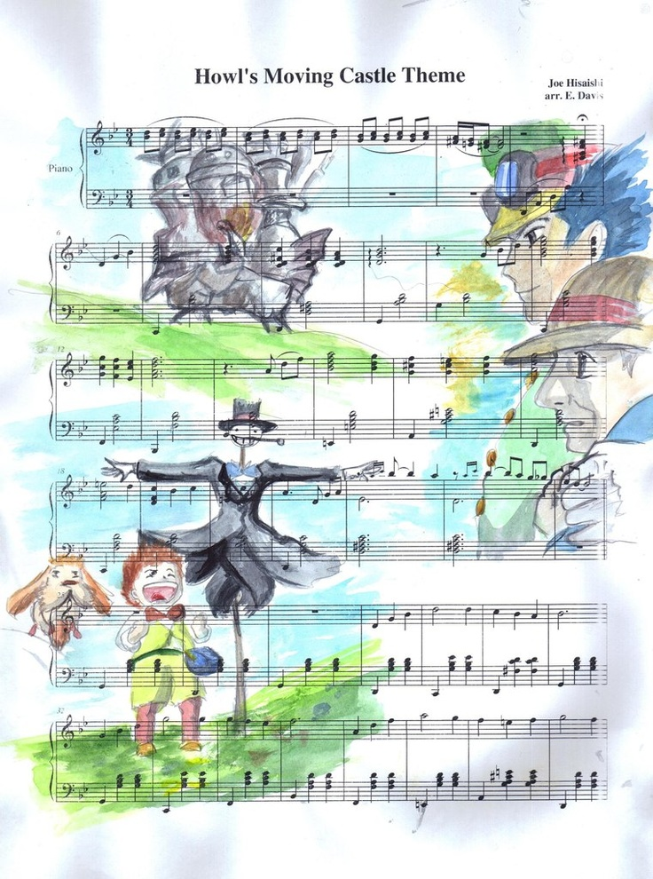 my neighbor totoro fanart | howl s moving castle my neighbor totoro anime music tonari no totoro