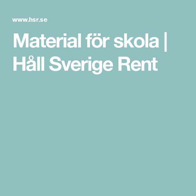 Material för skola | Håll Sverige Rent