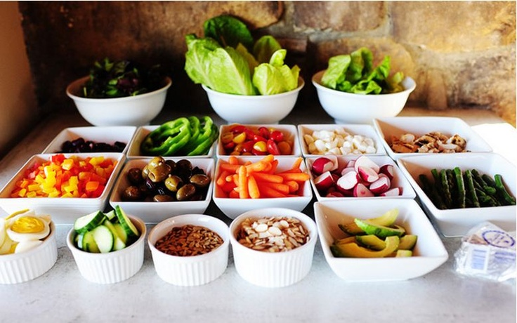 Chopped salad bar | party ideas | Pinterest | Chopped Salads, Salad ...