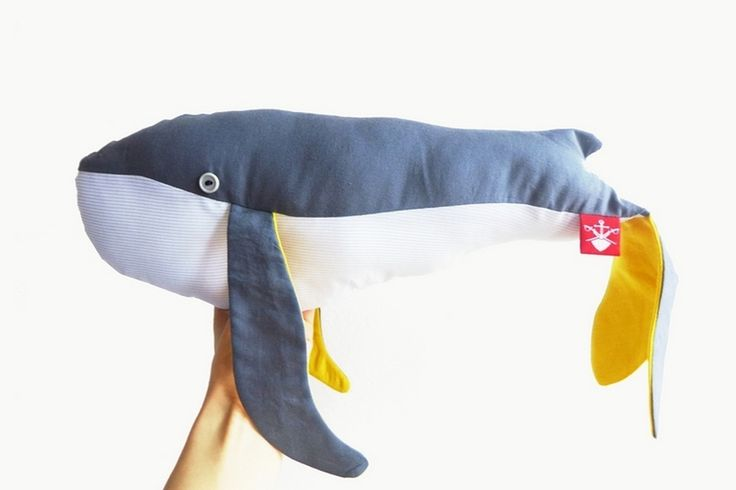 The ADVENTURE Begins present: handamde whale, cotton moby dick, 50cm
