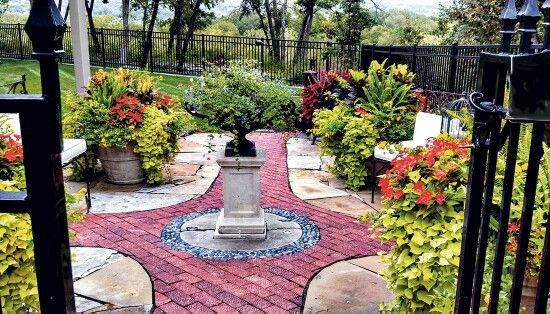 In rhythm with nature, planting makes it look gorgeous and adds those extra shades to the beauty, and some creativeness with tiles eill do the charm
