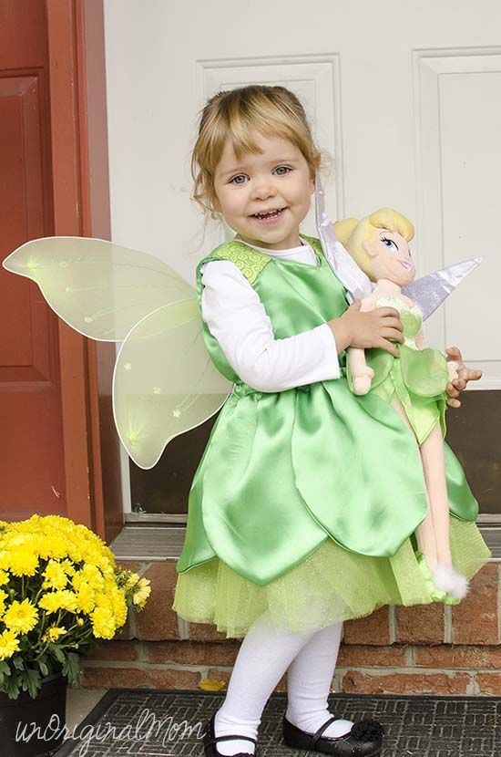 DIY Toddler Tinkerbell Costume
