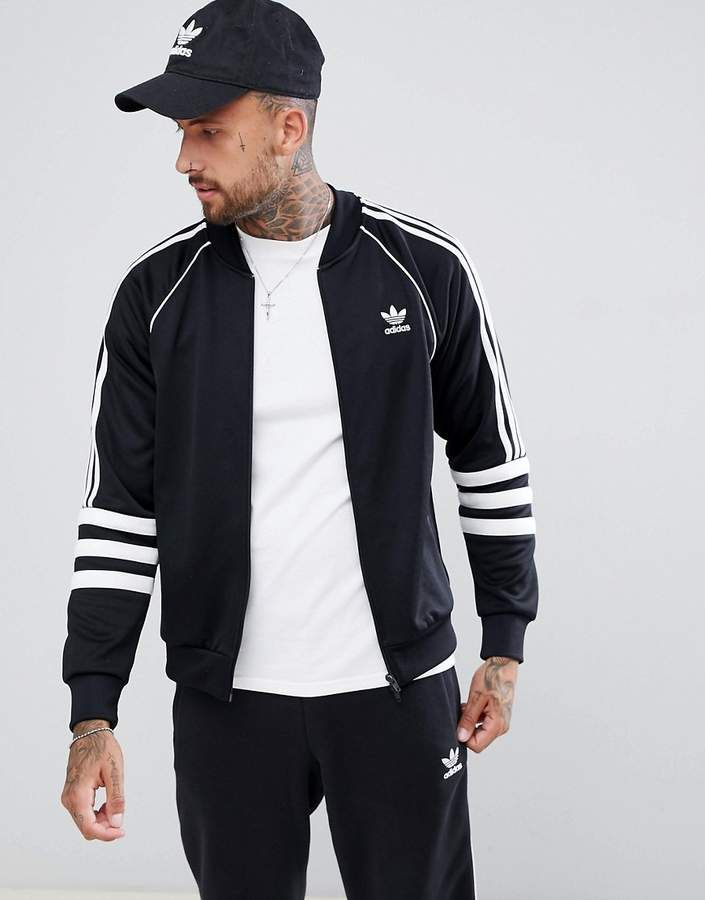 d7e366901557 adidas Originals Authentic Superstar Track Jacket In Black DJ2856 ...