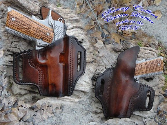 1911 Holster, Holster, 1911 Pancake Holster, Molded Holster, leather holster by DannyCollinsLeather on Etsy