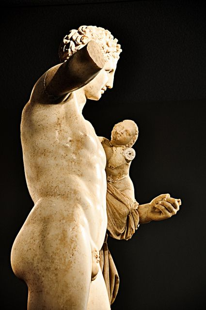 Hermes and the Infant Dionysos, also known as the Hermes ...