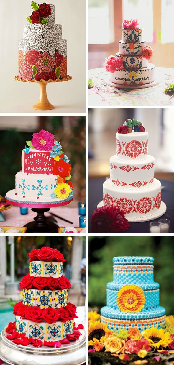 Mexico Inspired Wedding Cakes