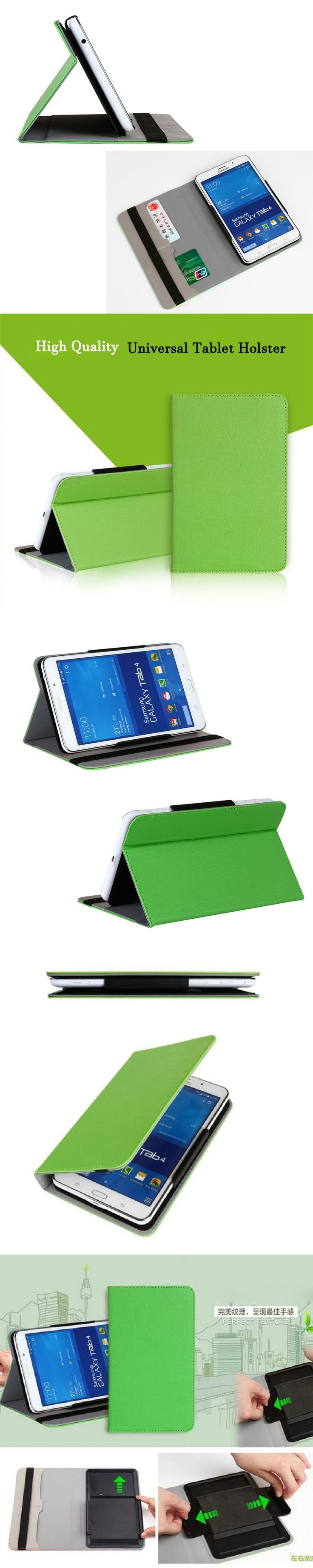 """9.7"""" 10"""" Universal PU Leather Tablet Case for ipad air 2 pro 9.7 for Samsung for HUawei Fashion Flip Stand Protector Cover Case"""