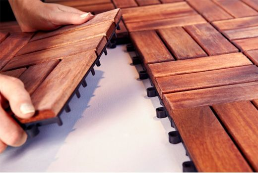 IKEA Garden Decking. Perfect for if you have an apartment but want your patio to look pretty! Plus, when you move you can just put it in your next place! Awesome!
