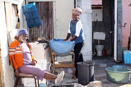 A typical day in a township Cape Town south africa