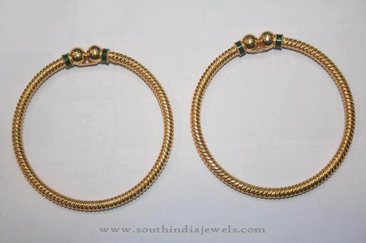 Simple gold bangles, Daily use gold bangles, Plain gold bangles designs, Daily Wear Gold Bangles