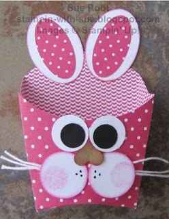 Stampin' With Sue: Easter Bunny Fry Box                                                                                                                                                                                 More