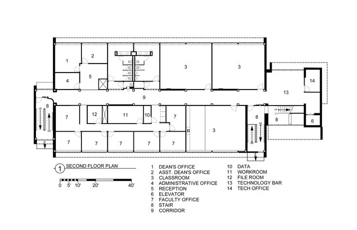 Image 11 of 11 from gallery of Fleck Hall / Andersson Wise Architects. Second Floor Plan