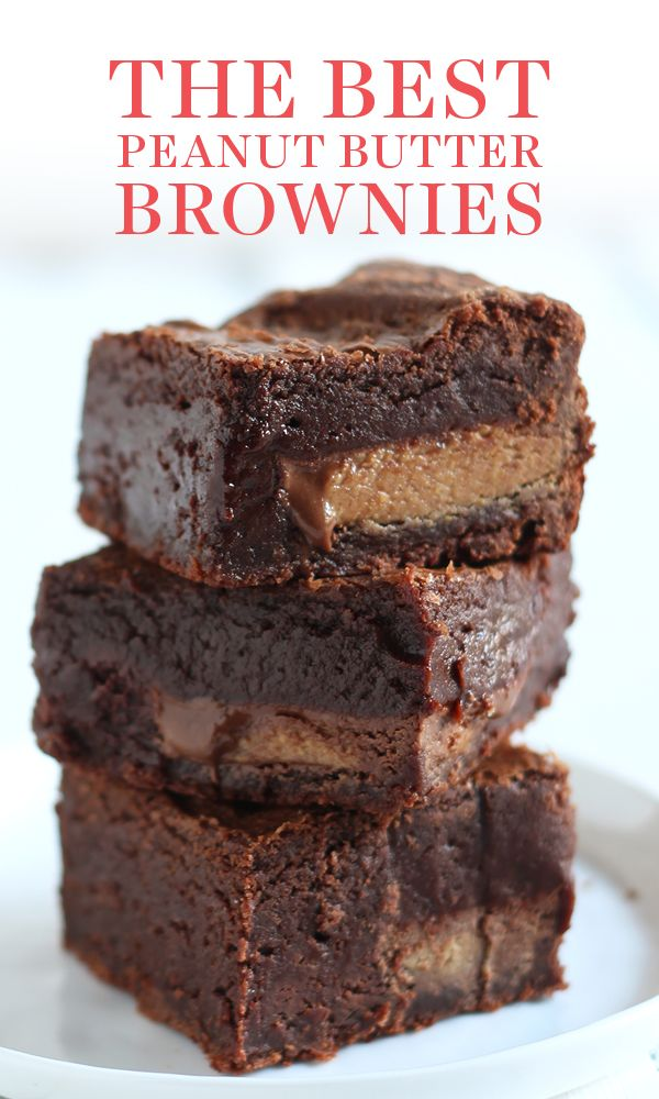 These are the BEST homemade Peanut Butter Brownies…
