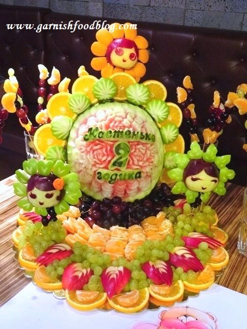 fruit display children party