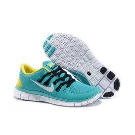 Green Yellow Black Nike Free Men's Running Shoes for