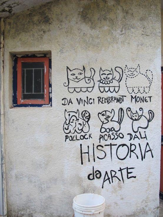 A quick history of art told through kitten street art