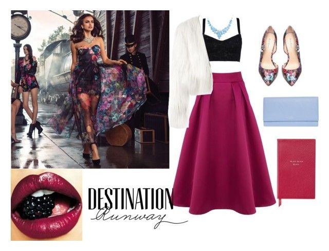 """""""Destination Runway with Bebe : Contest Entry"""" by sparrows-and-poppy on Polyvore featuring Coast, Bebe, Dolce&Gabbana, MARCOBOLOGNA, Smythson and beiconic"""
