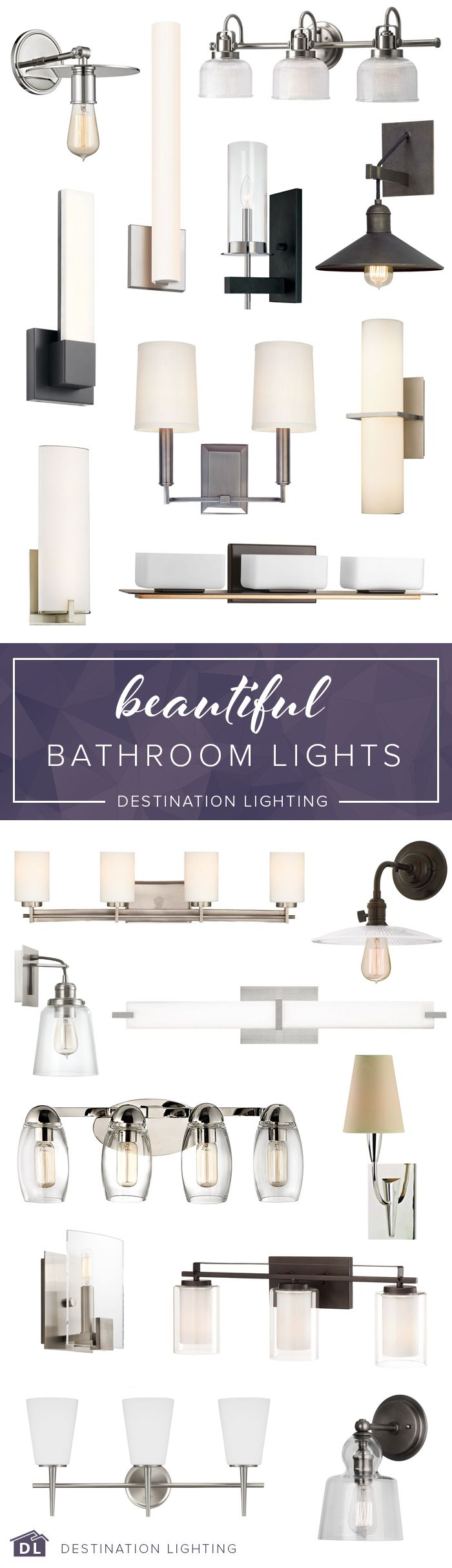 All the beautiful bathroom lighting you could dream of, all in one place. Check out these stunning styles and more at Destination Lighting.
