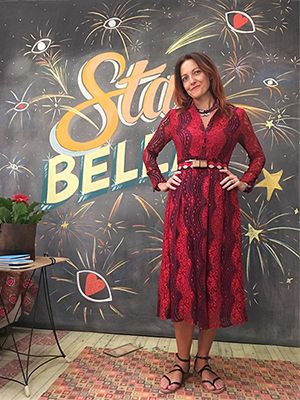 Wait and See presents  DELIA in L'ATELIER dress  BESPOKE EXQUISITE J for WAIT AND SEE belt