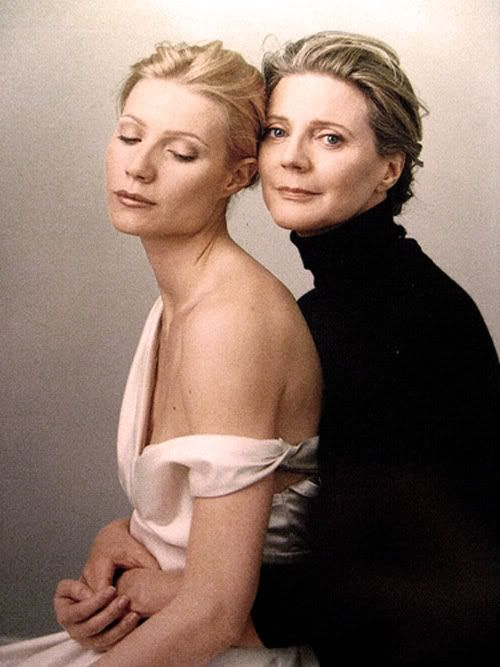 Mother and daughter. Gweneth Paltrow and Blythe Danner- Leibovitz