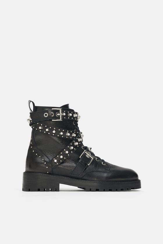 8e093f787b7 Boots en cuir à bijoux en 2019