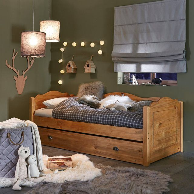 lit gigogne pin massif finition cir e 3 positions. Black Bedroom Furniture Sets. Home Design Ideas
