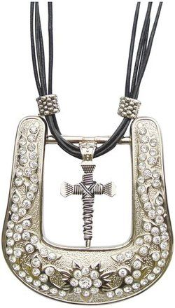 western belt buckle necklace