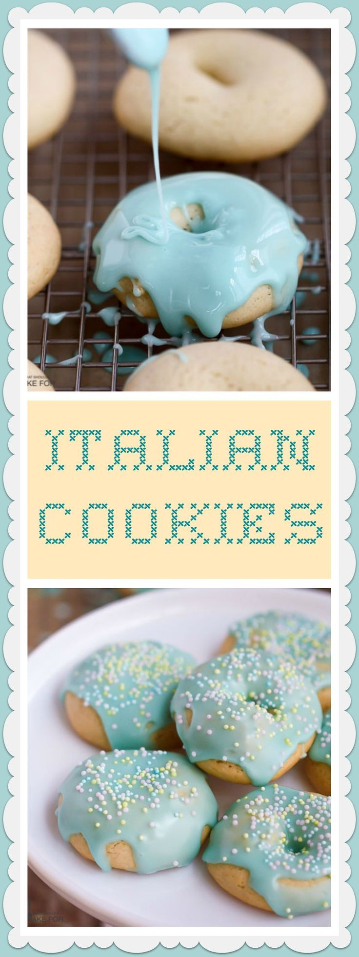 Italian cookies have been a family favorite for many years and look so sweet all dressed up for Easter.