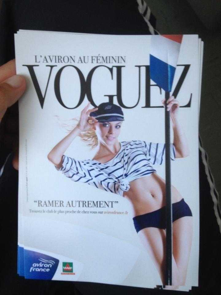 Nouvelle affiche de la Fédération Française d'Aviron pour promouvoir ce sport chez les filles.