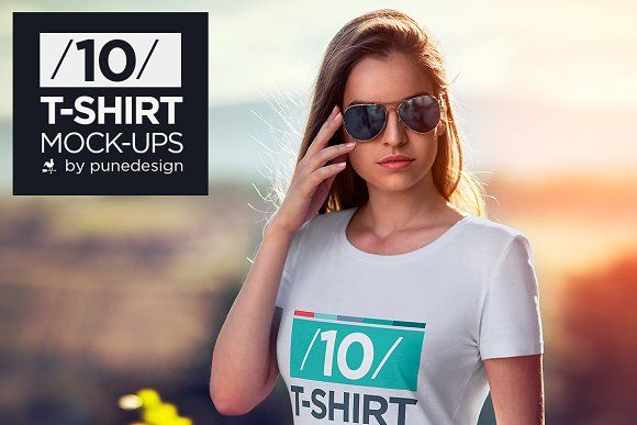T-Shirt Mock-Up Vol.2 by PuneDesign on @creativemarket