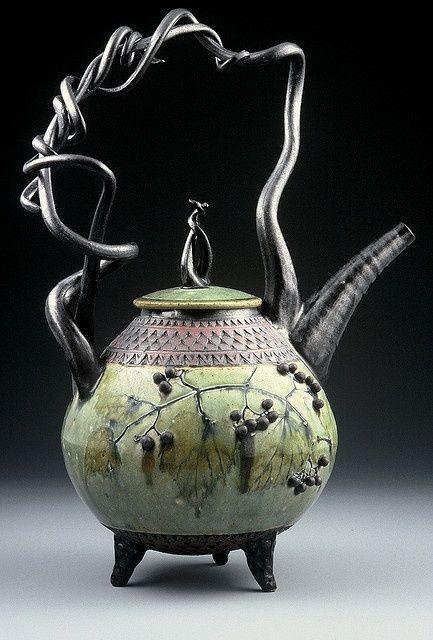 Decorative tea pot by Suzanne Crane