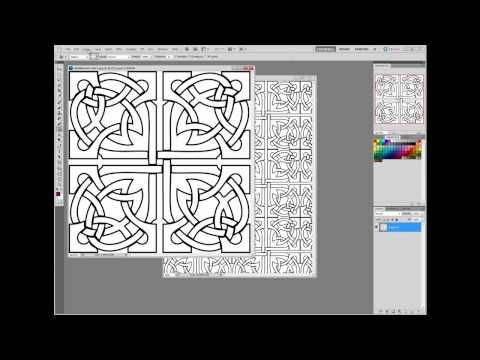 Making Your own patterned paper using Adobe - YouTube