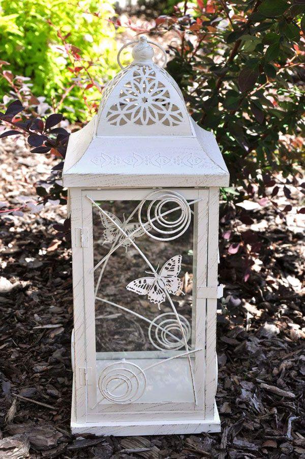 Wysoki, nastrojowy lampion na dużą świecę w stylu prowansalskim / Moody Lanterns in Provencal style